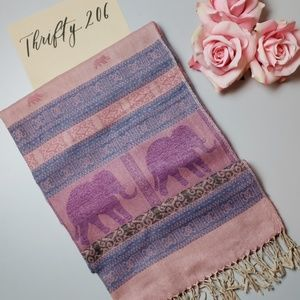 Accessories - Mixed Print Elephant Pashmina